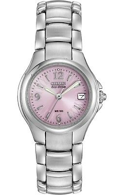 Citizen Eco-Drive Womens Silhouette Pink Floral Dial 25mm Watch EW1170-51X