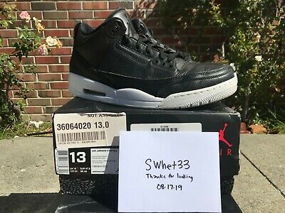 NIKE AIR JORDAN 3 RETRO sz 13 CYBER MONDAY iii cement red v iv bred force dunk
