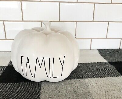 Rae Dunn White FAMILY Pumpkin Halloween Release 2019 NEW Thanksgiving