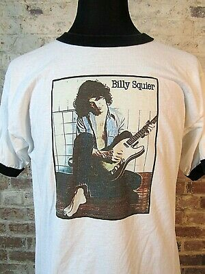 VTG 90s Billy Squier Ringer T Shirt Dont Say No Retro From 1981 EXCELLENT RARE