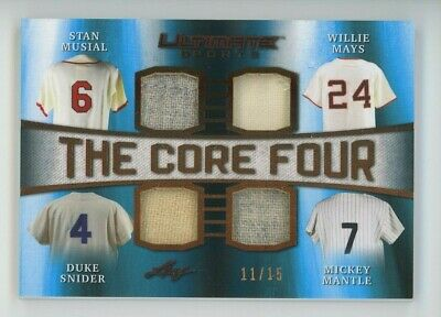 2019 Mickey Mantle Willie Mays Leaf Ultimate Sports Game Used Patch 1115