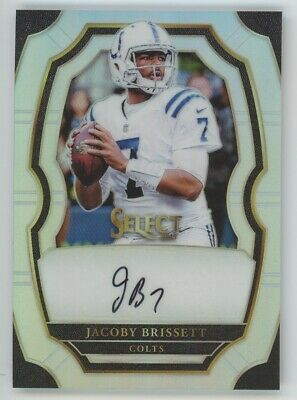 2017 Jacoby Brissett Panini Select Silver Prizm Auto 08199 NICE Colts