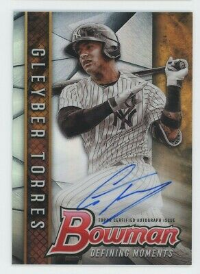 2017 Gleyber Torres Bowman Chrome Moments Auto Autograph Rookie Rc 9999 NICE