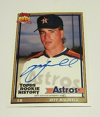 2018 Jeff Bagwell Topps Archives Rookie History Auto Autograph 9099 NICE