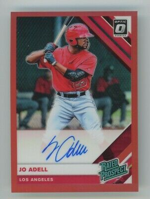 2019 Jo Adell Panini Optic Red Prizm Refractor Auto Autograph Rookie Rc 3450
