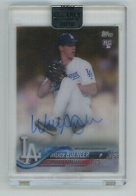 2018 Walker Buehler Topps Clearly Authentic Auto Autograph Rookie Rc NICE
