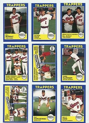 1988 Salt Lake City Trappers 30 Card Complete Set Bill Murray NICE