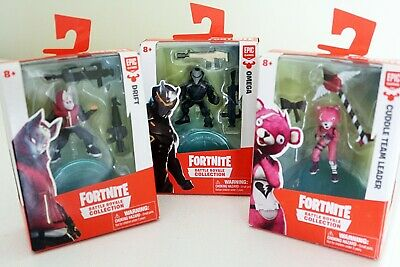 3 FORTNITE Battle Royale Collection 2 inch Mini Figures Omega Cuddle and Drift