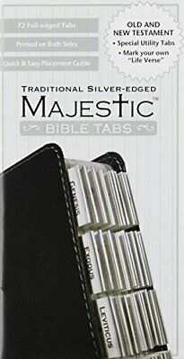 Majestic Traditional Silver-Edged Bible Tabs 72 Count