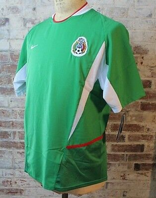 New Nike Mexico Soccer Jersey Authentic Football Green Adult - Youth Size 2002