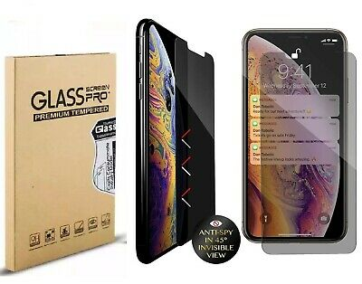 2-Pack iPhone 11 Pro X Xs Max Privacy Anti-Spy Tempered Glass Screen Protector