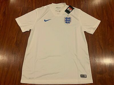 2014 World Cup Nike Men's England Home Soccer Jersey Large L White 3 Lions