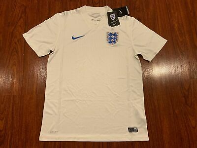 2014 World Cup Nike Men's England Home Soccer Jersey Medium M White 3 Lions