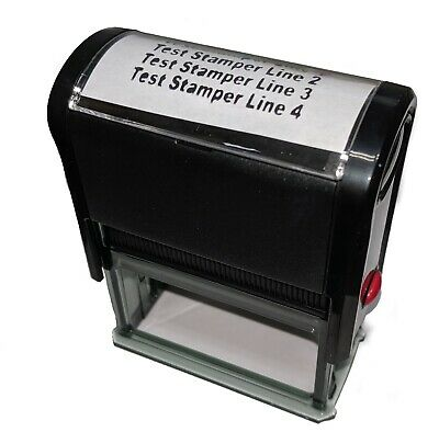 Customized Self Inking Rubber Address Stamp 4 line Personalized