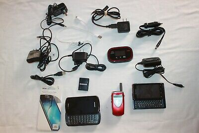 Parts Only Old Cell Phones Verizon Jetpack Chargers and other Misc- Accessories