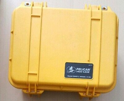 Used Pelican Case Model 1400 yellow With Used Foam