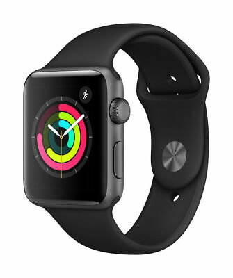 Apple Watch Series 3 42mm GPS - Space Gray - Black Sport Band