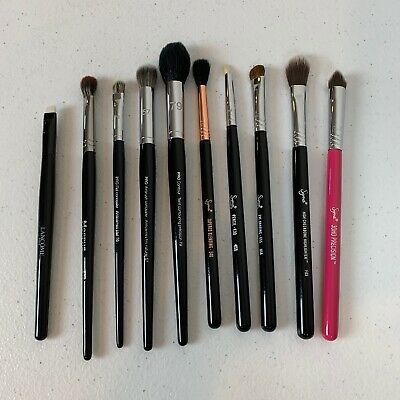 Pre-Owned Lot of 10 Makeup Brushes - Morphe Sigma Sephora Pro and Lancome