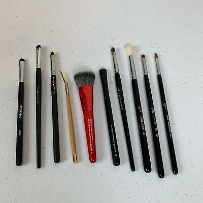 Lot of 10 Pre-Owned Makeup Brushes - Morphe Ulta Tarte Sephora Pro and Sigma