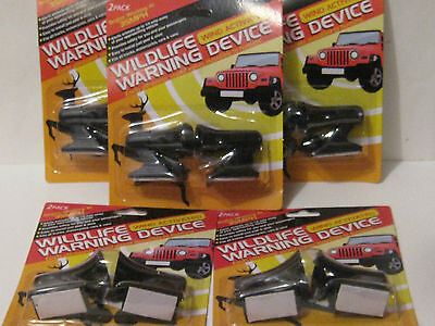 5 PACKS 10 total OF DEER WHISTLES  WILDLIFE WARNING DEVICES- FREE SHIP- NEW