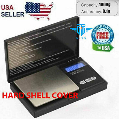 Digital Scale 1000g x 0-1g Jewelry Pocket Gram Gold Silver Coin Precise NEW