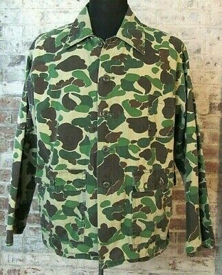Vintage Ranger Camo Jacket Mens L MADE IN USA Camouflage Duck Hunting Canvas
