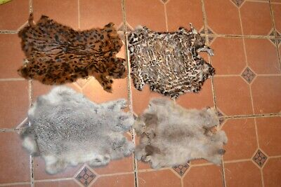 Lot of 4x Vintage 60s 70s 80s Real Fur Snips Rabbit - More 33