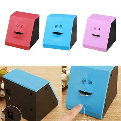 Facebank Face Piggy Bank Sensor Coin Eating Saving Money Box Kids Gift New