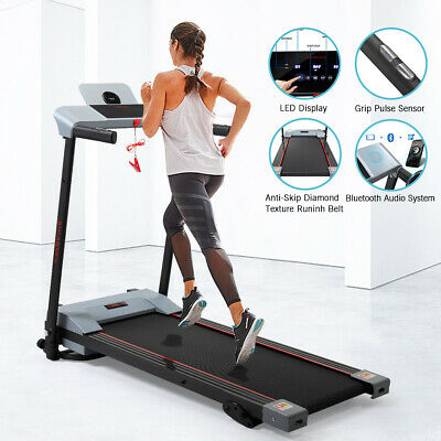 Folding Treadmill Support Electric Motorized Power Running Fitness Machine