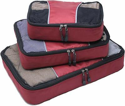 3pc Packing Cubes set Suitcase Luggage Organizer for Travel - Home Storage Use