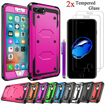 Shockproof Case Cover For iPhone SE 6 7 8 Plus 12 11 XR X MAX  Screen Protector
