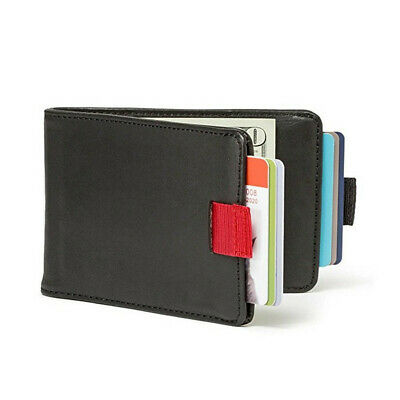 Handmade Geniue Leather 12 Cards - 30 Bills - Slim Pull Wallet Free Shipping