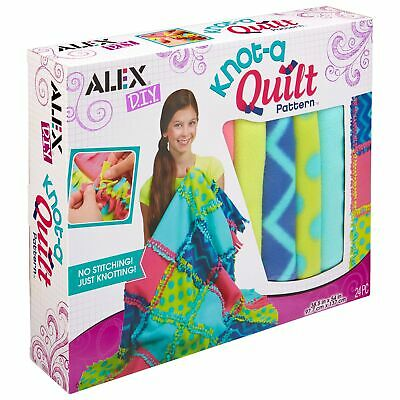Soft Polyeste Diy Knot-A-Quilt Pattern Kids Art and Craft Activity New