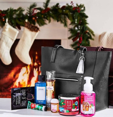 NEW Bath - Body Works 2018 Black Friday Tote Purse Bag With Contents 8 Pieces