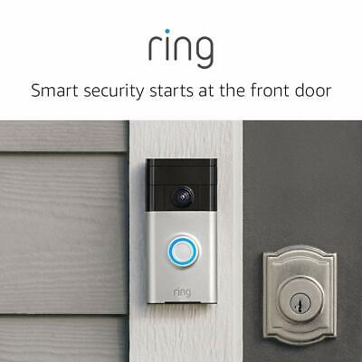 Ring Wireless Video Doorbell - Satin Nickel