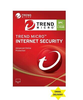Trend Micro Internet Security 2021 - 3 PC1 Year DLC - download content