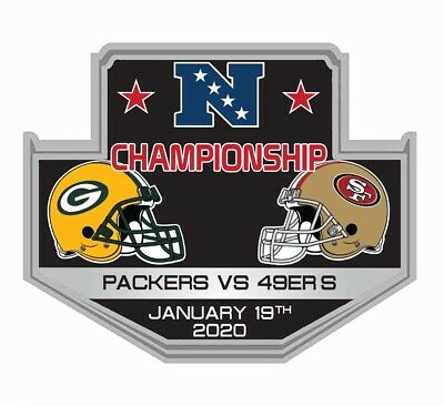 NFL NFC CHAMPIONSHIP DUELING PIN 49ERS PACKERS 2019 2020 SUPERBOWL 54 SHIP 127