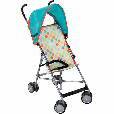 Cosco Umbrella Stroller with Canopy Lightweight and Easy to Fold Dots
