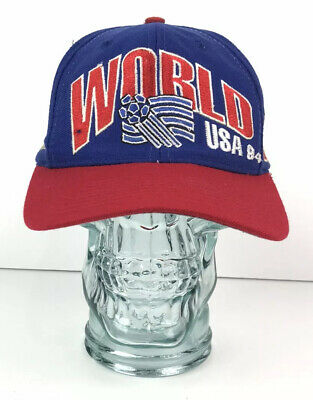 Vtg 90s Official WORLD CUP USA 1994 Snapback Hat Spell Out Apex One Ball Cap