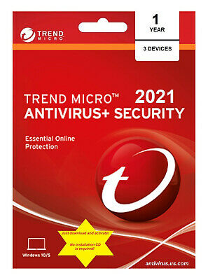 Trend Micro Antivirus- Security 2021 - 3 PC1 Year DLC - download content