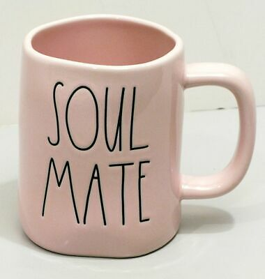 Brand New RAE DUNN Valentines Day Spring Pink SOUL MATE Coffee Tea Ceramic Mug