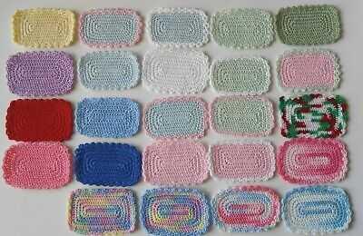 1 Dollhouse Miniature Hand Crafted Crocheted Rug  3 x 2  Choose Color