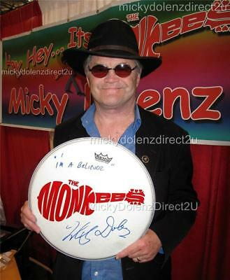 MICKY DOLENZ DIRECT 2U 14 DRUMHEAD SIGNED 2U W YOUR FAVE MONKEES SONG TITLE