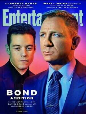Entertainment Weekly February 2020 James Bond Daniel Craig Rami Malek