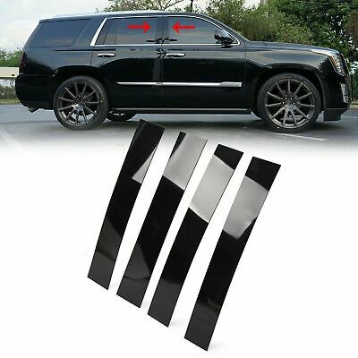Black Pillar Posts for Cadillac Escalade 07-14 4pc Set Door Trim Cover Kit