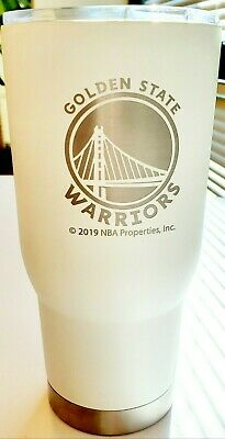 NBA Officially-Licensed White - Silver Golden State Warriors 32 Oz Steel Tumbler