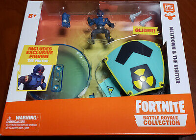 Fortnite Battle Royale Collection Meltdown and The Visitor Figure and Glider