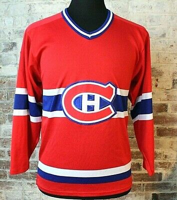 Vintage CCM Montreal Canadiens Hockey Jersey Stitched Mens M 34 Sleeve NHL