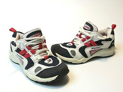 VTG 90s Tommy Hilfiger Youth Sneakers Tennis Shoes Boys Girls Size 12 Kids