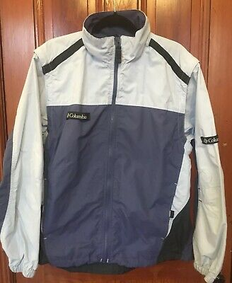 VTG Columbia Jacket Convertible Vest Zip Off Sleeves Womens L USA Portland OR